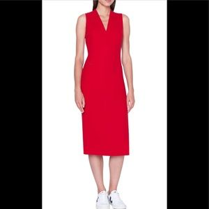 Ralph Lauren red wool sheath dress